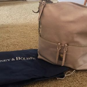 Dooney & Burke off white shoulder bag